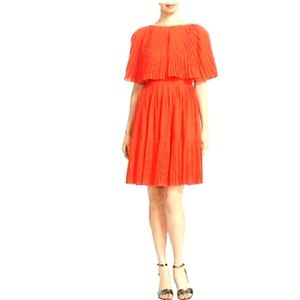 Kate spade beautiful orange/ red pleated dress